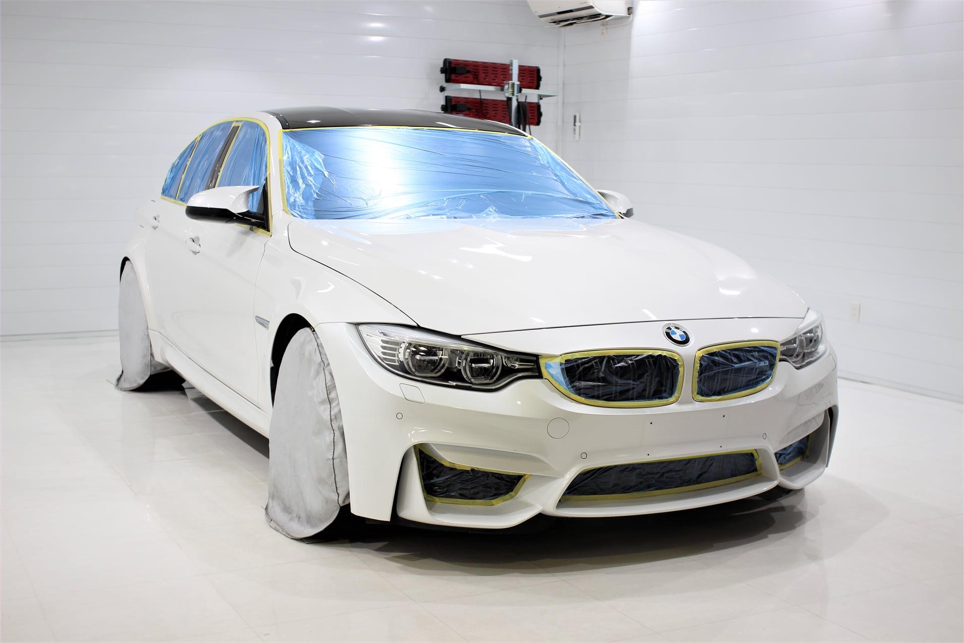 BMW M3にボディーコーティング施工