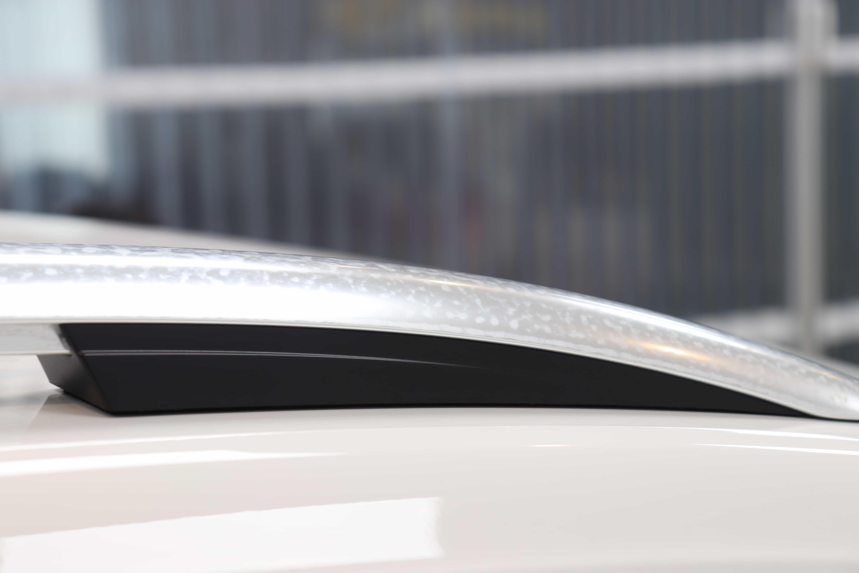 欧州車の窓枠メッキモール腐食除去と腐食防止プロテクションフィルム施工。